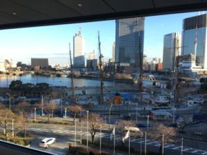 みなとみらいにあるイタリアン「chef's V」で帆船日本丸を眺めながら優雅なランチタイムを。
